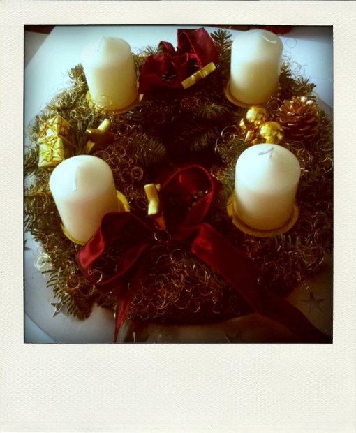 Adventskranz Polaroid