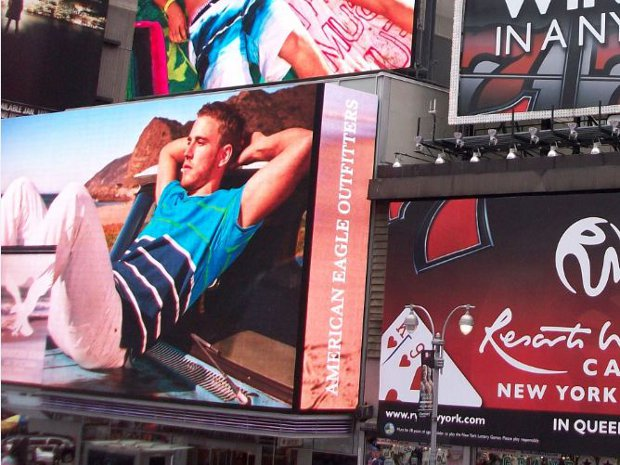 American Eagle am Timessquare in New York