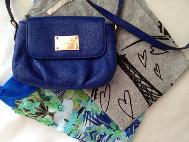Blaue Michael Kors Tasche