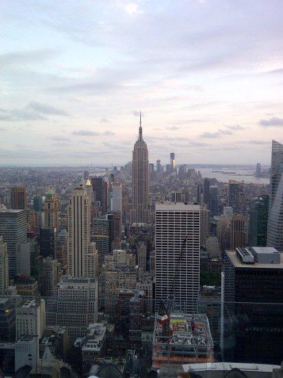 Blick auf New York mit dem Empire State Building fahiongefluester.com