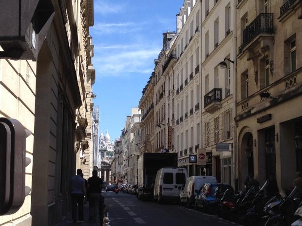 Blick auf Sacré Coeur in Paris