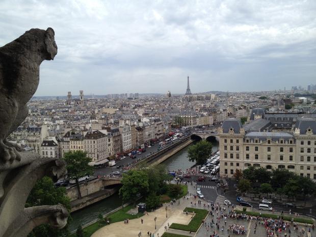 Blick von Notre Dame über Paris
