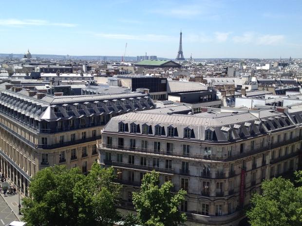 Blick von der Galeries Lafayette in Paris