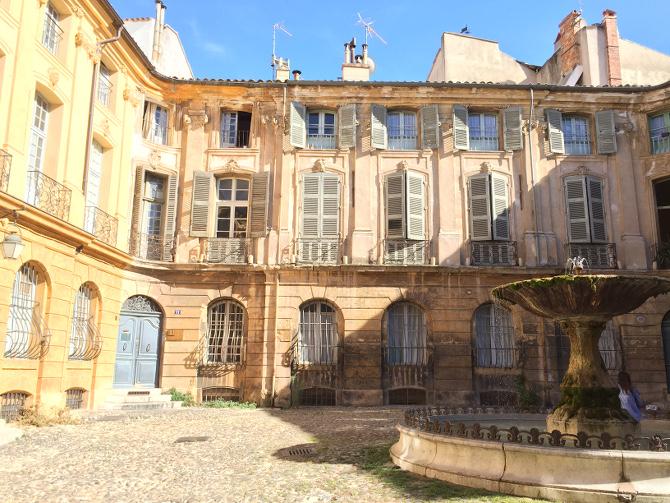 Brunnen in der Altstadt von Aix-en-Provence