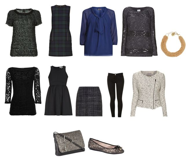 Collage Weihnachtsoutfit - festliche Outfits