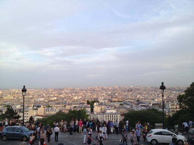 Der Blick von Scaré Coeur über Paris