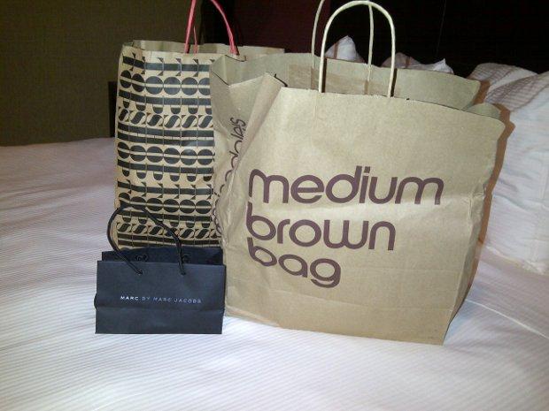 Einkaufstüten Topshop, Bloomingdales und Marc Jacobs in New York
