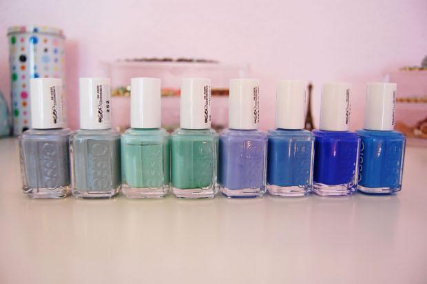 Essie Sammlung Blau- und Grüntöne