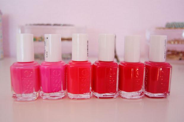 Essie Sammlung Pink- und Rottöne