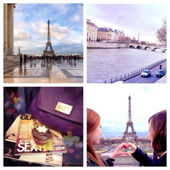 Fotocollage Geburtstag und Paris