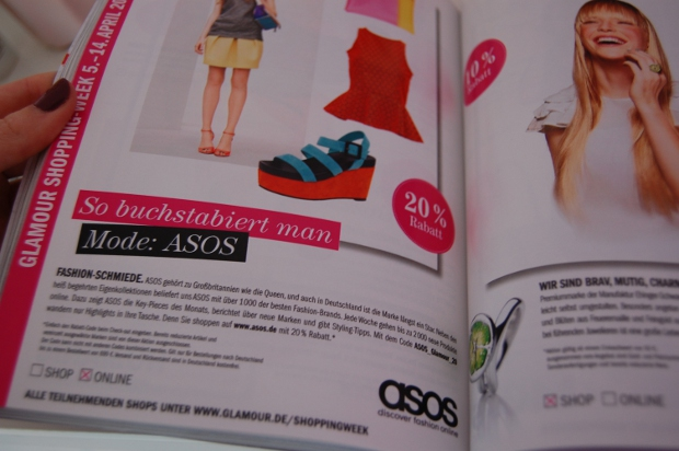Glamour Shopping-Week 2012 bei Asos