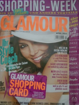 Glamour mit Shoppingcard