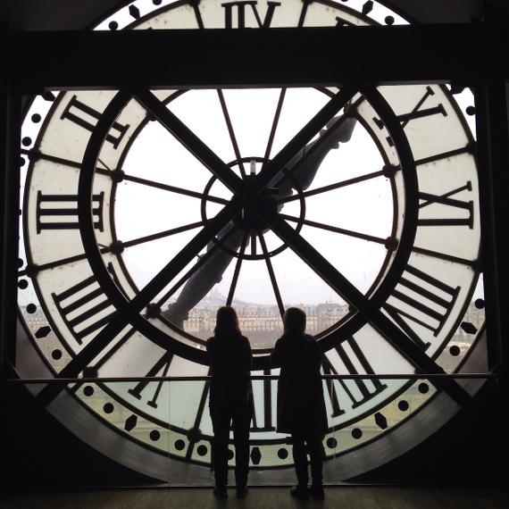 Große Uhr im Musée d'Orsay in Paris