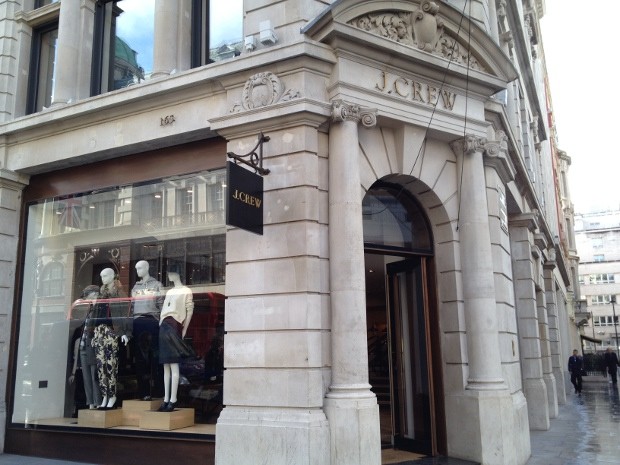 J.Crew in der Regent Street in London
