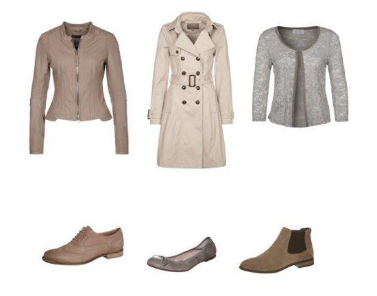 Jacken und Schuhe für den Frühling