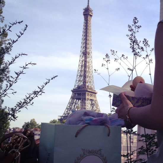 Macarons und Eiffelturm in Paris