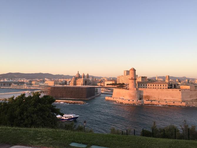 Marseille im Abendrot
