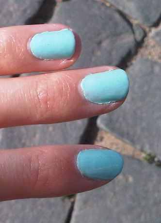 Nagellack in mint