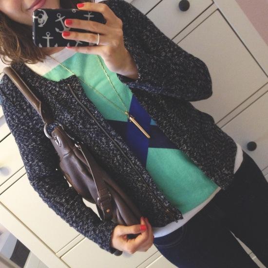 Outfit - Blazer und T-Shirt