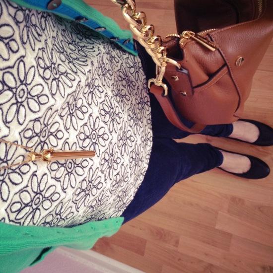 Outfit - Blümchen und Grün