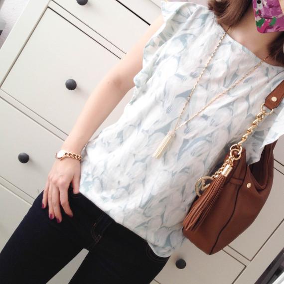 Outfit - Flattershirt und Tasselnecklace