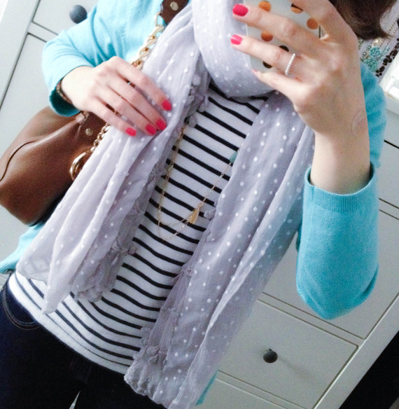 Outfit - Grau und Bunt