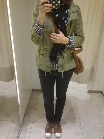 Outfit Karohemd und Parka 1