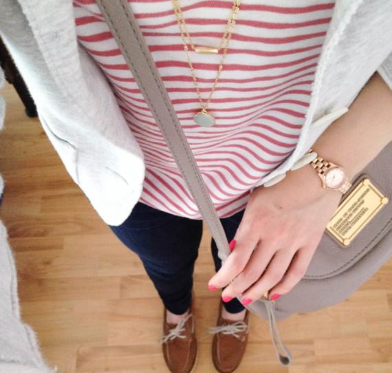 Outfit - Streifen und Blazer