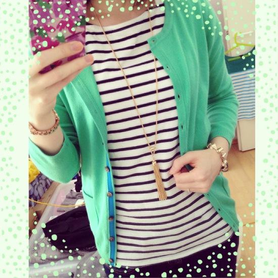 Outfit - Streifen und Gruen