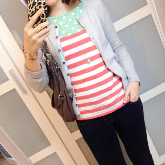 Outfit - Streifen und Punkte