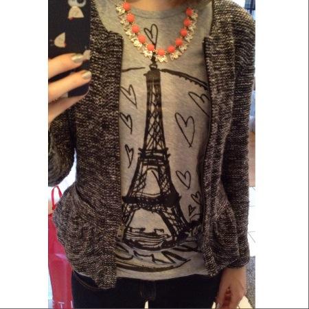 Outfit - Parisshirt und J.Crew Blazer