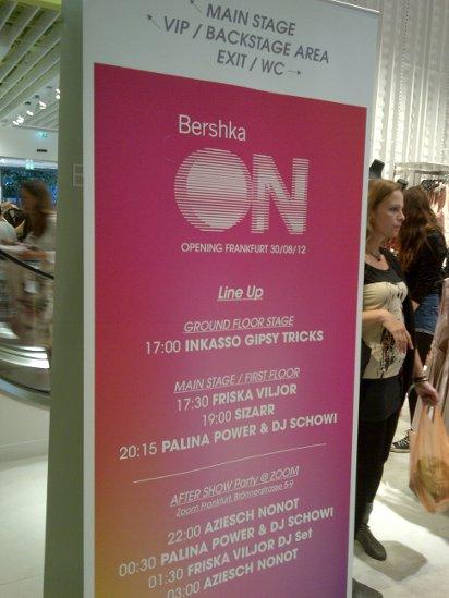 Programm Eröffnung Bershka Frankfurt