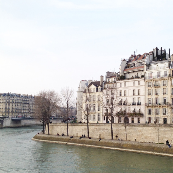 Seine und île Saint-Louis in Paris