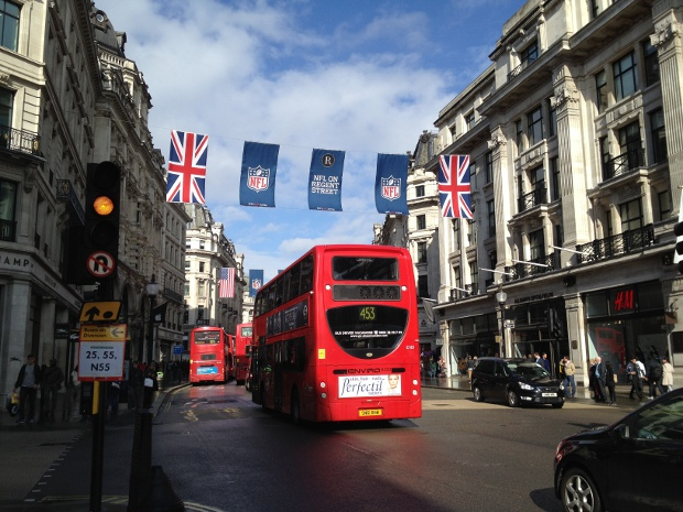 Shopping auf der Regent Street in London