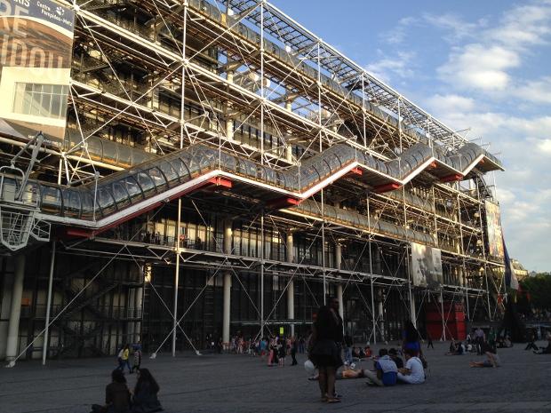 Sonnenuntergang am Centre Pompidou in Paris