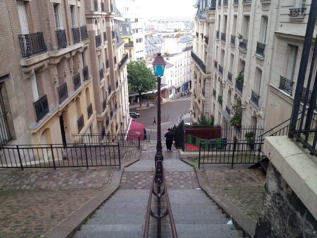 Treppen im Montmartre in Paris