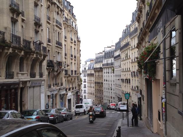 Typische Strasse in Paris