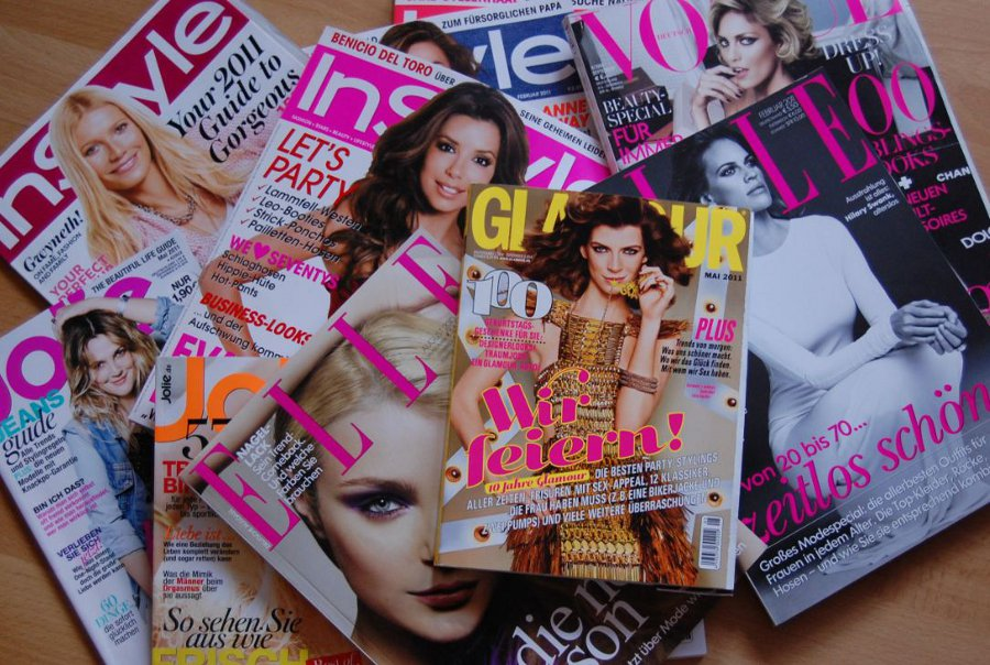 Verschiedene Modemagazine