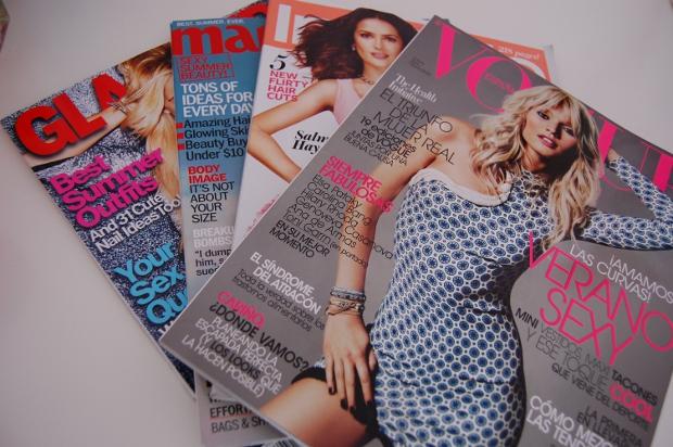 ausländische Modezeitschriften