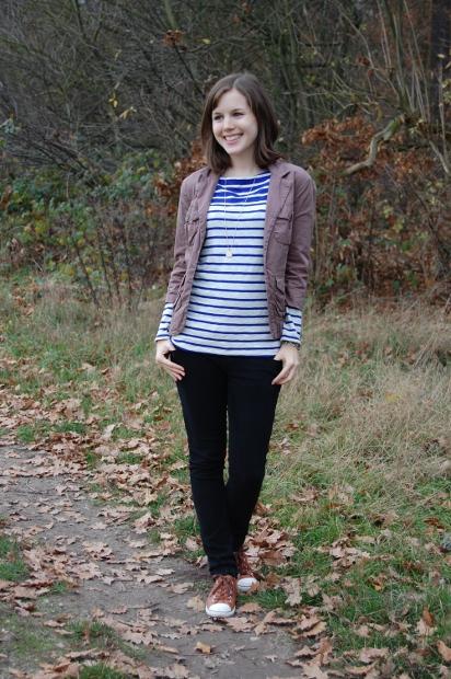 casual Outfit mit Streifenshirt und Jacke 2_