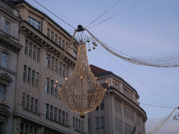 hübsche Straßenbeleuchtung in Wien