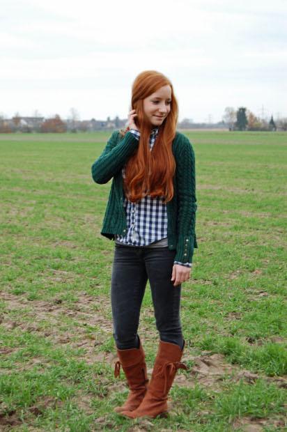 winterliches Outfit mit Strickjacke 2